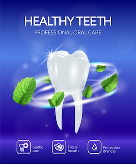 Realistyczny plakat dentystyczny