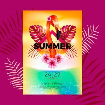 Realistyczny plakat na letnią imprezę