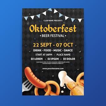 Realistyczny plakat oktoberfest