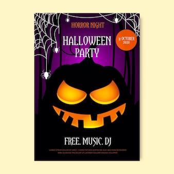 Realistyczny plakat party halloween