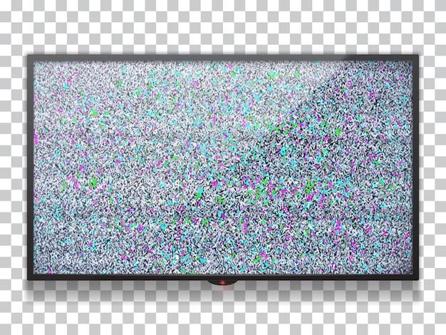 Realistyczny płaski telewizor lcd szablon