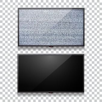Realistyczny płaski telewizor lcd