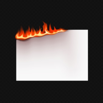 Realistyczny płonący papier