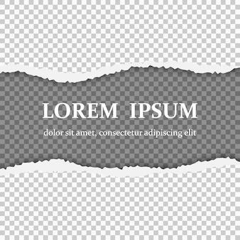 Realistyczny podarty papier z podartymi krawędziami
