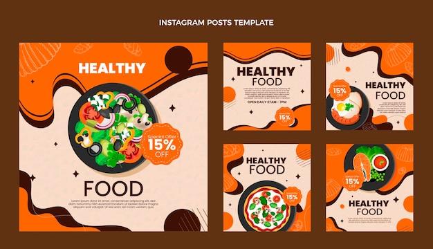 Realistyczny post na instagramie żywności