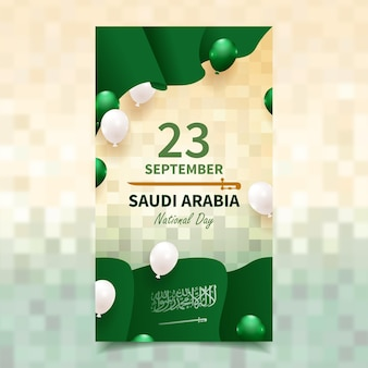 Realistyczny post w mediach społecznościowych z okazji święta narodowego arabii saudyjskiej