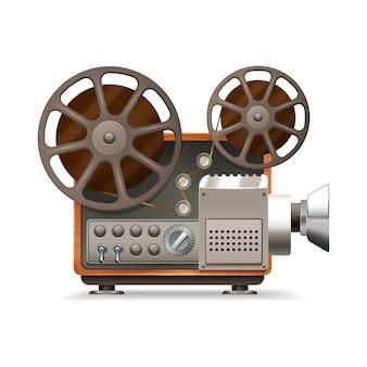 Realistyczny profesjonalny projektor filmowy