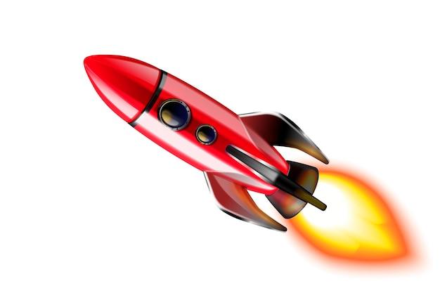 Realistyczny projekt ilustracji rakiety kosmicznej