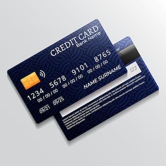 Realistyczny projekt karty kredytowej