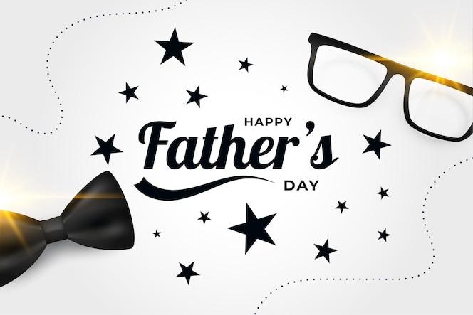 Realistyczny projekt karty szczęśliwy dzień ojca