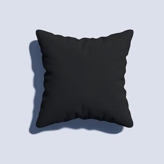 Realistyczny projekt pustej czarnej poduszki 3d