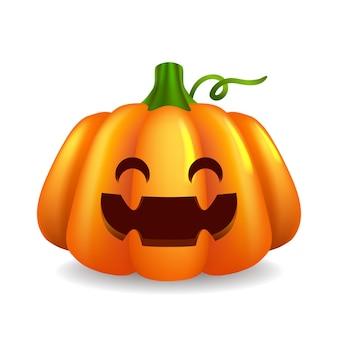 Realistyczny projekt śliczna dynia halloween