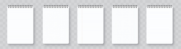 Realistyczny pusty notatnik. notatnik makieta z cieniem na białym tle