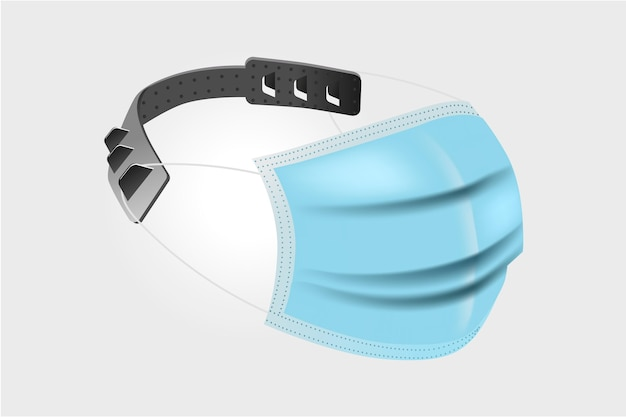 Realistyczny regulowany pasek maski medycznej
