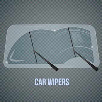 Realistyczny skład wycieraczek samochodowych