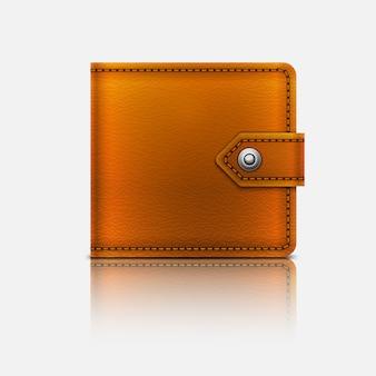 Realistyczny skórzany portfel