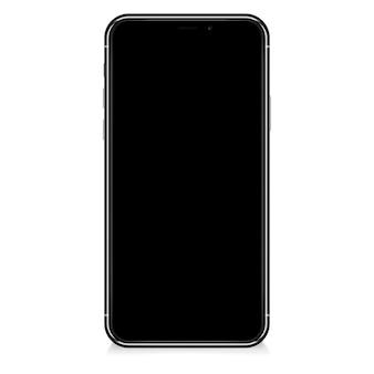 Realistyczny smartfon. ramka telefonu komórkowego z pustym wyświetlaczem, widok z przodu.