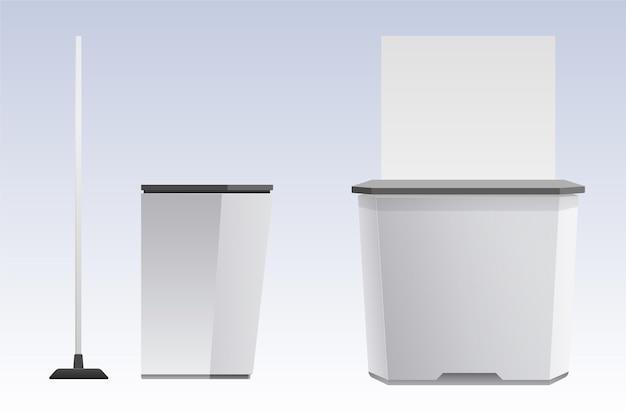 Realistyczny stół promocyjny