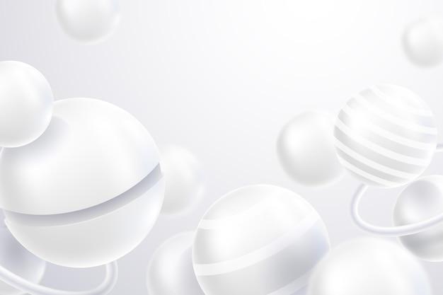 Realistyczny styl białe monochromatyczne tło