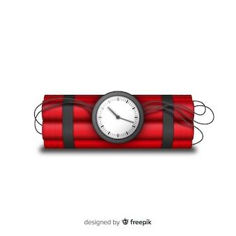 Realistyczny styl czerwonej bomby zegarowej