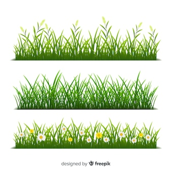 Realistyczny styl granicy trawy