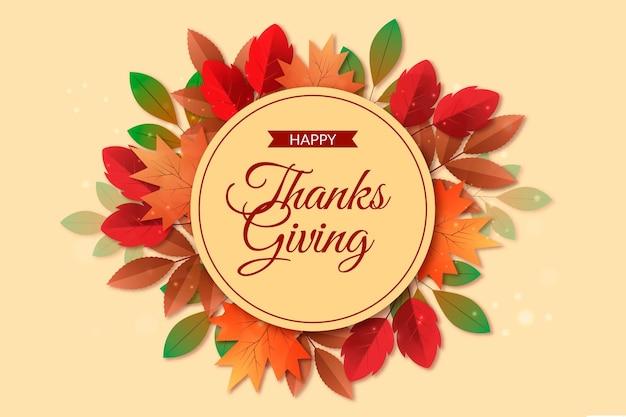 Realistyczny styl tło święto dziękczynienia