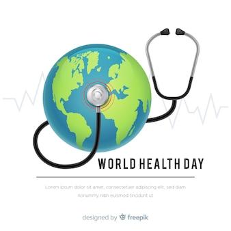 Realistyczny światowego zdrowia dnia tło