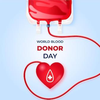 Realistyczny światowy dzień dawcy krwi