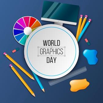 Realistyczny światowy dzień grafiki