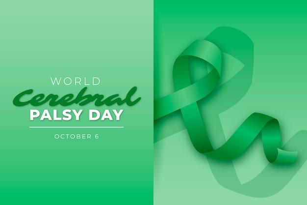 Realistyczny światowy dzień porażenia mózgowego w tle
