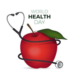 Realistyczny światowy dzień zdrowia tło