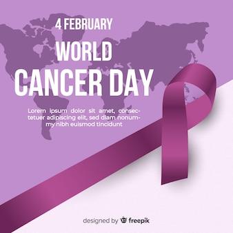 Realistyczny światowy rak dnia tło