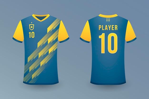 Realistyczny szablon koszulki piłkarskiej