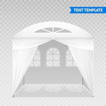 Realistyczny szablon namiotu