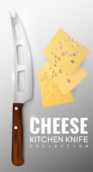 Realistyczny szablon noża kuchennego