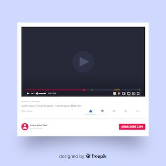 Realistyczny szablon odtwarzacza multimedialnego