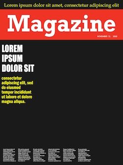 Realistyczny szablon pierwszej strony okładki magazynu