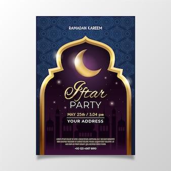 Realistyczny szablon pionowego plakatu iftar