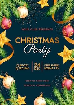 Realistyczny szablon plakatu świątecznego