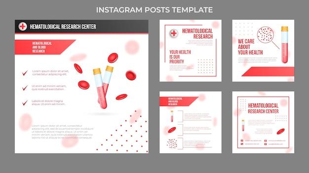 Realistyczny szablon postów medycznych na instagramie