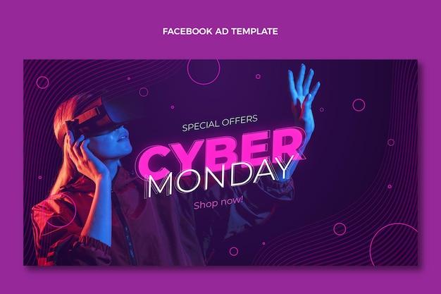 Realistyczny szablon promocji mediów społecznościowych w cyber poniedziałek