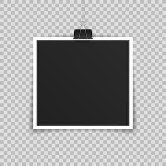 Realistyczny szablon ramki na zdjęcia
