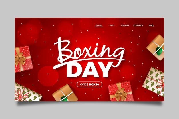 Realistyczny szablon strony docelowej sprzedaży w dniu świątecznym