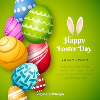 Realistyczny szczęśliwy Easter dnia tło