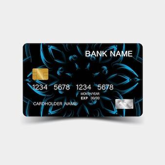 Realistyczny szczegółowy projekt karty kredytowej
