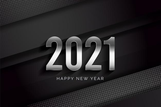 Realistyczny szczęśliwego nowego roku 2021