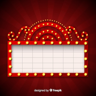 Realistyczny teatr retro znak