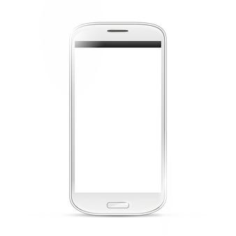 Realistyczny telefon komórkowy na białym tle