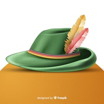 Realistyczny tradycyjny kapelusz oktoberfest