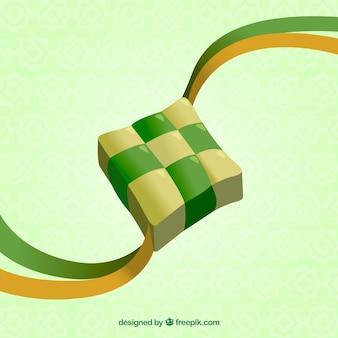 Realistyczny tradycyjny skład ketupat